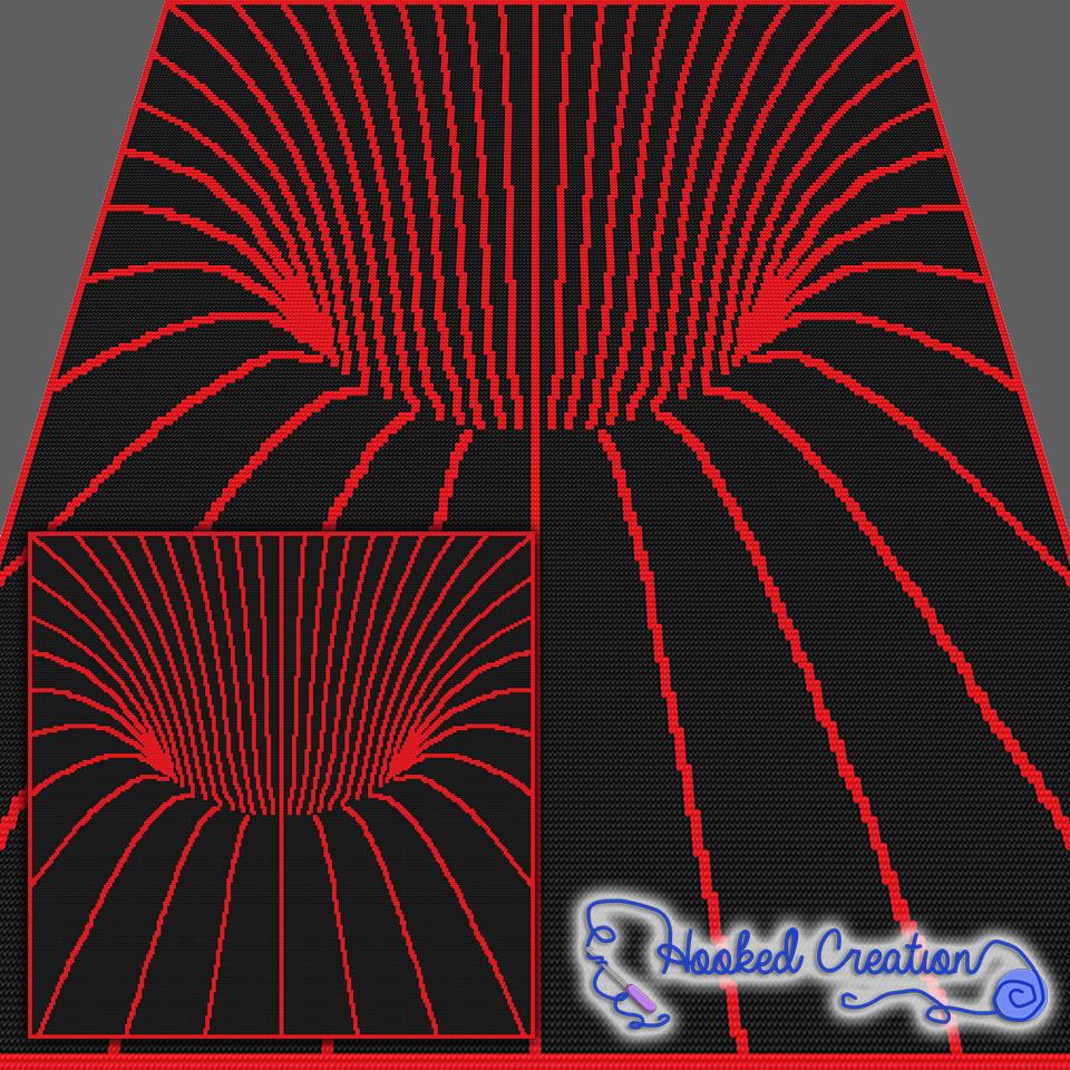 Tunnel Vision SC Throw Blanket Crochet Pattern | Decken, Häkeln und ...