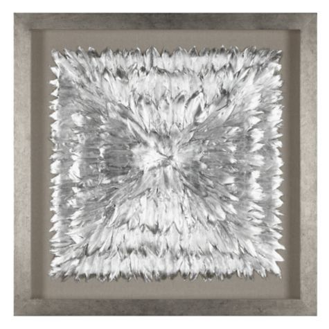 Feathered Silver From Z Gallerie Wall Art Decor Wall Art Living Room Room Wall Art