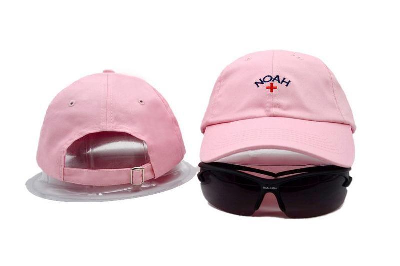 8d483abc90c Mens   Womens Noah The Naoh + Embroidered Logo Strap Back 6 Panel Sportcap  Adjustable Cap - Pink
