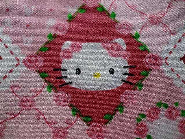 Hello Kitty fabric Half yard pink color by HanamiBoutique on Etsy, $11.60