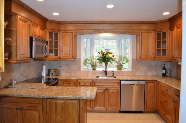 what kind of counters with maple cabinets kitchen - Google Search ...