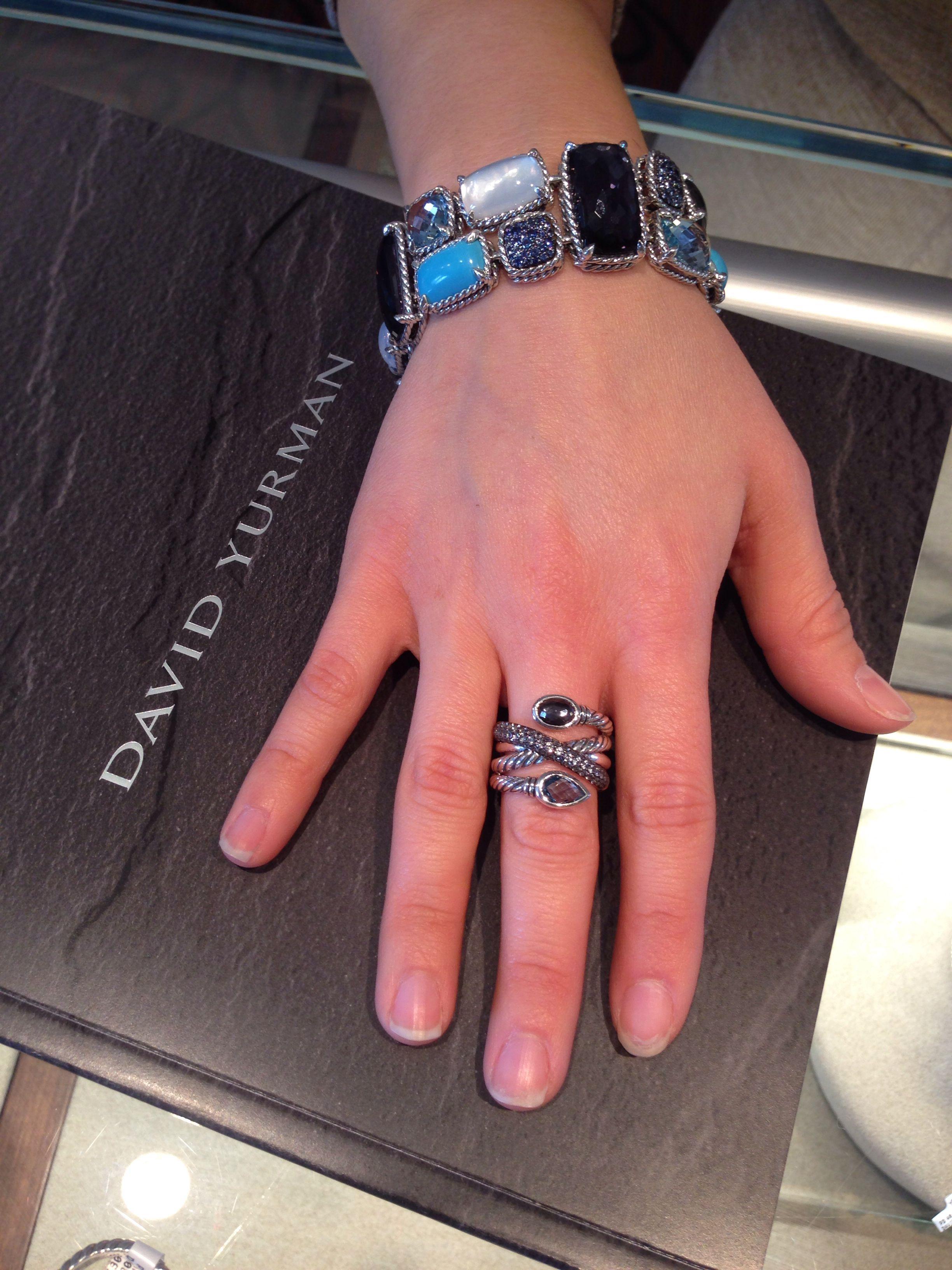 New David Yurman Chantelaine bracelet and ring!! Love, Love, Love ...