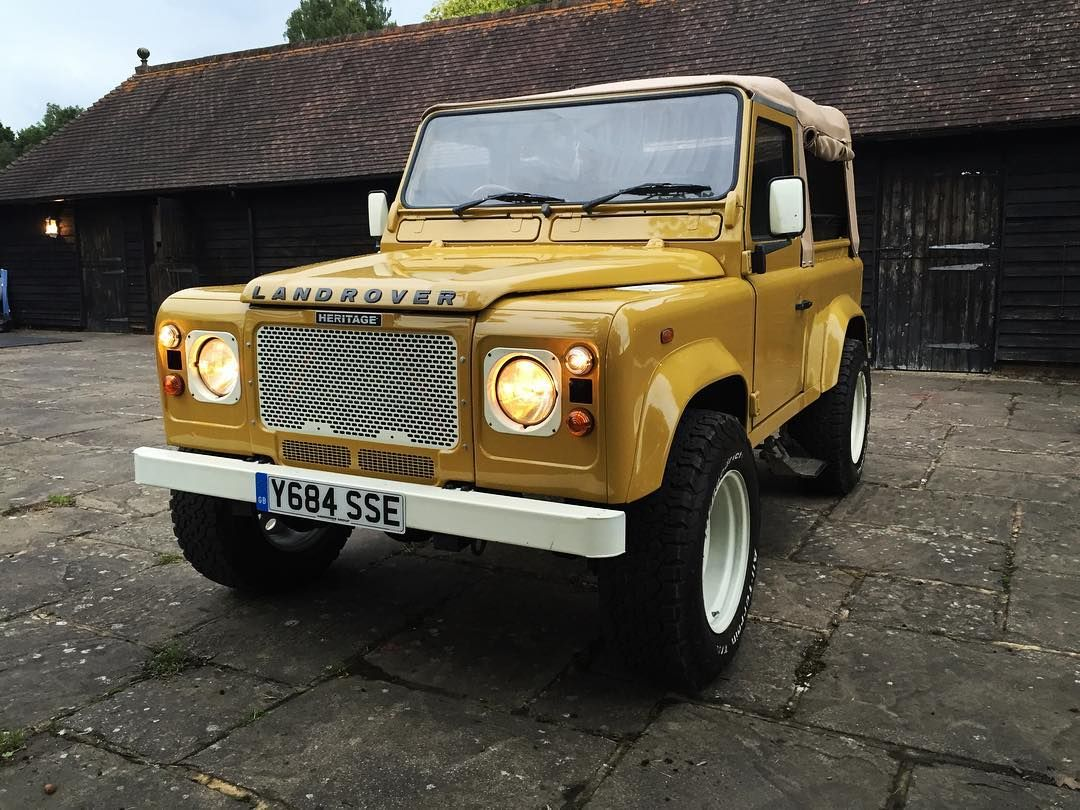 A modern classic land rover defender td5 in bahama gold this car was sold at
