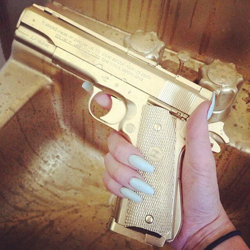 I'm pretty sure I would get a gold gun... but only just to look at it.