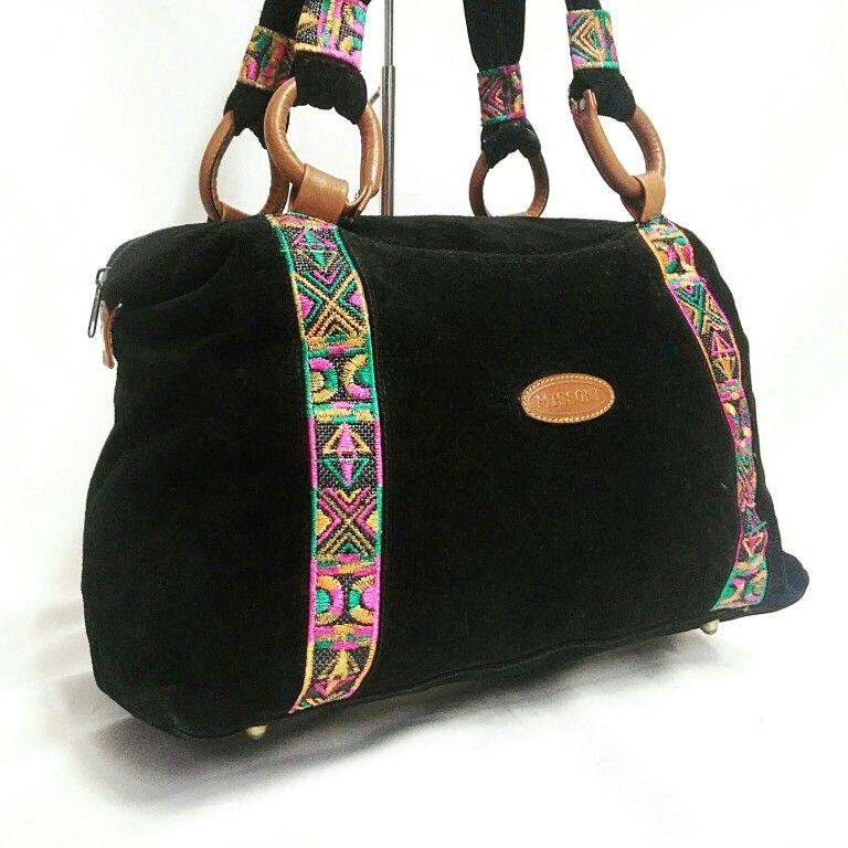 #MISSONI suede  ethnic shopper bag  from 1987 ca  Lerario Lapadula #Fashion Archives  #bag #ethnic #shopper #vintage #museum #art #design #styling #designer #love #cute #photo #photography #80s #vogue