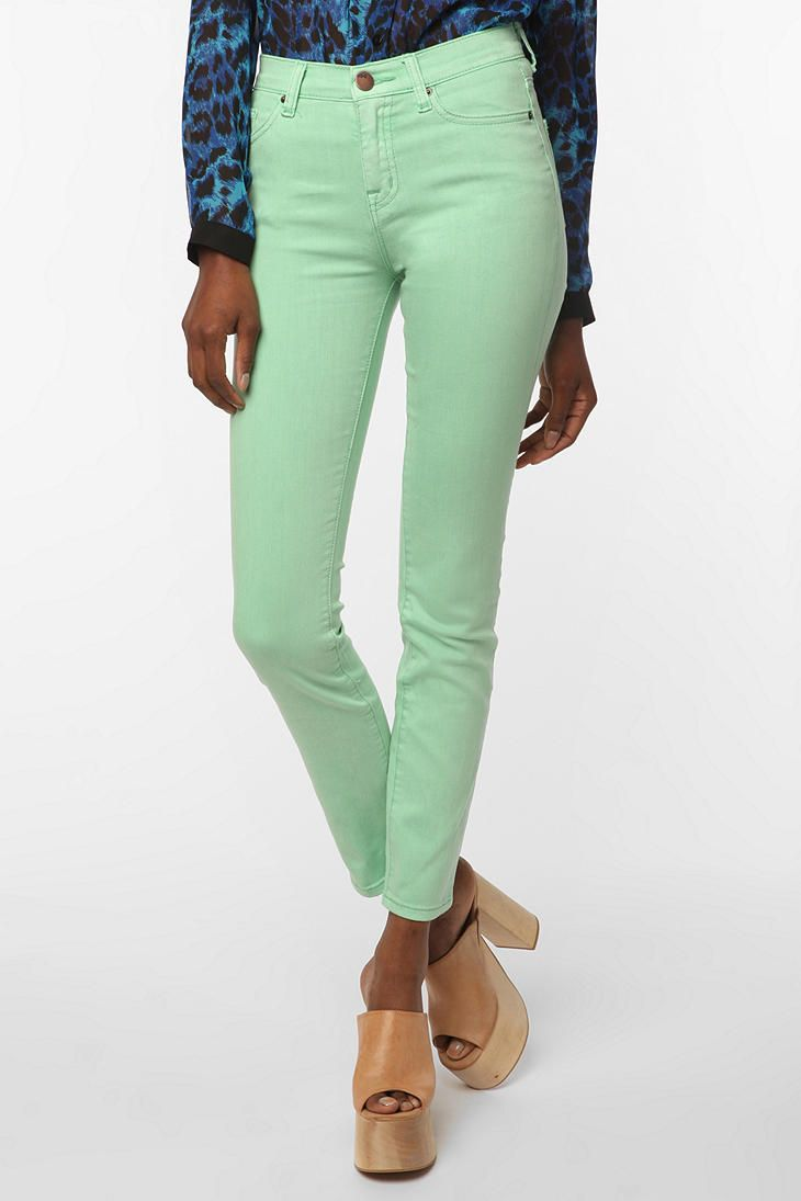 2019 year for women- Green Mint skinny jeans urban outfitters pictures
