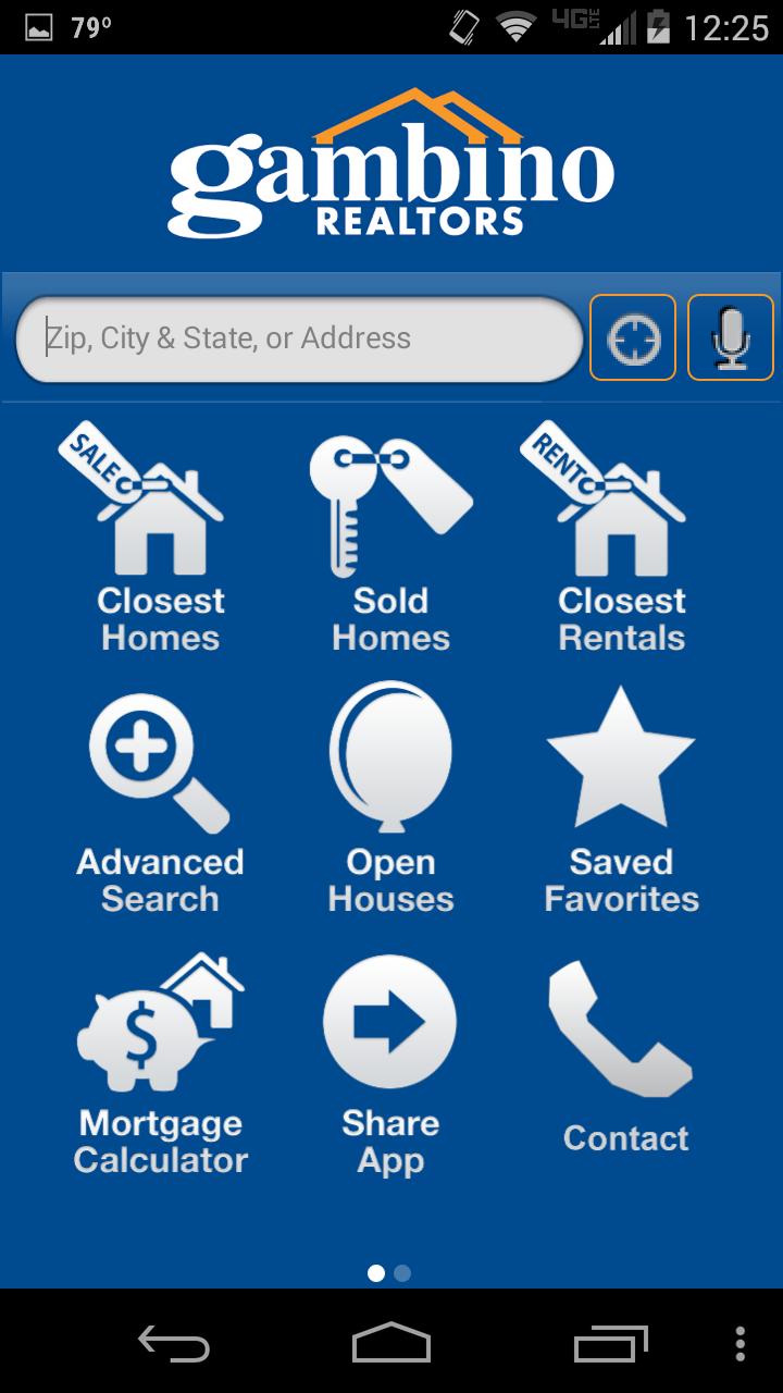 Gambino Realtors   White Label examples   App, Mobile app, Map