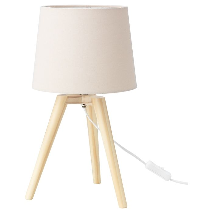 bois ikea lampe de table