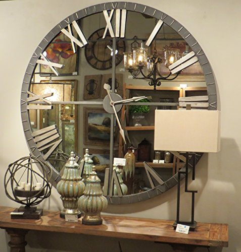 Seo Ogtitle Wall Clocks Living Room Oversized Wall Clock Large Mirrored Wall Clock