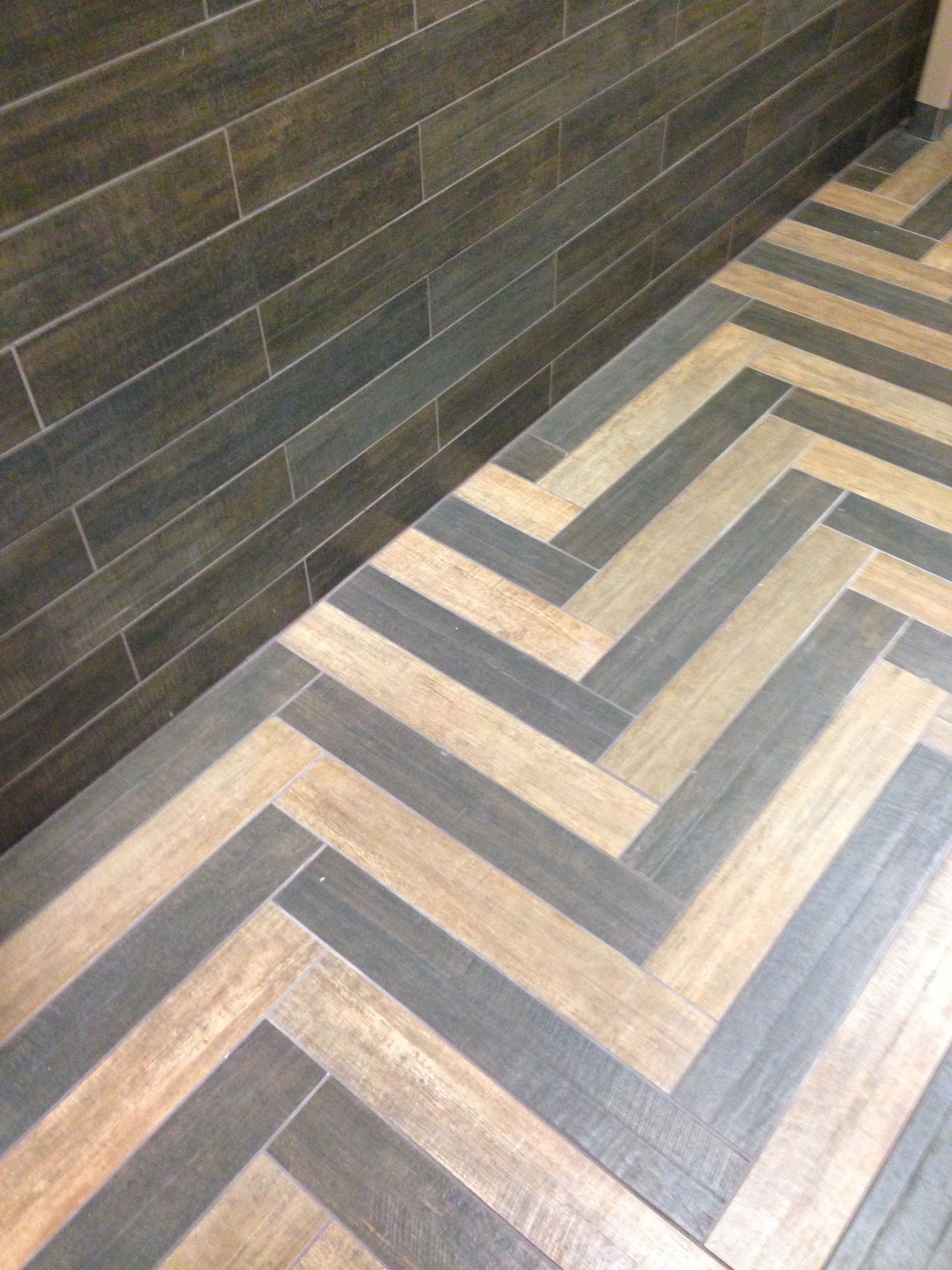 The beautiful Barrique porcelain wood look tile. So versatile!  Italian-made. www  Wood Stamped ConcreteStencil ...
