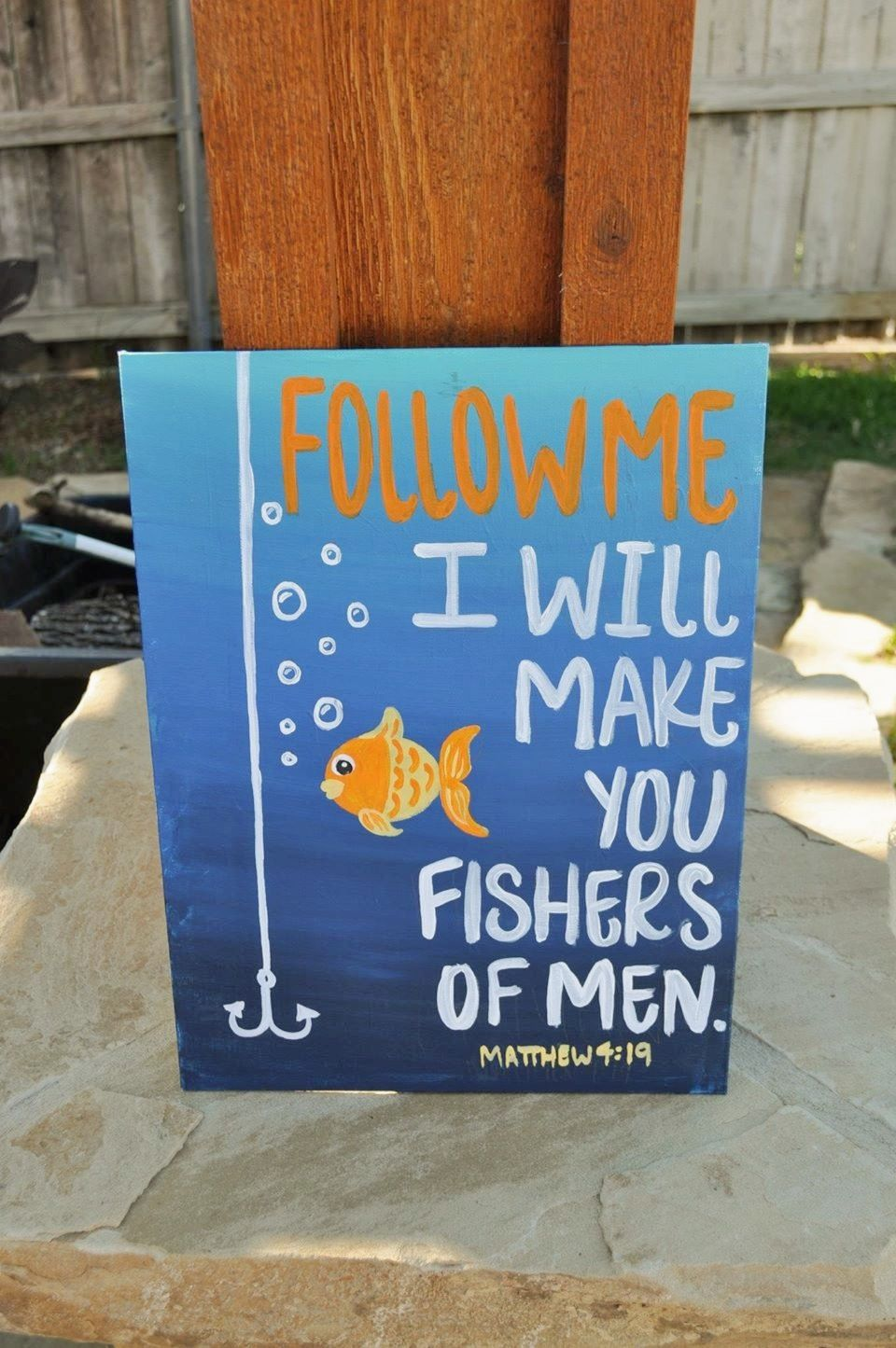 Follow Me I Will Make You Fishers Of Men Matthew 4:19