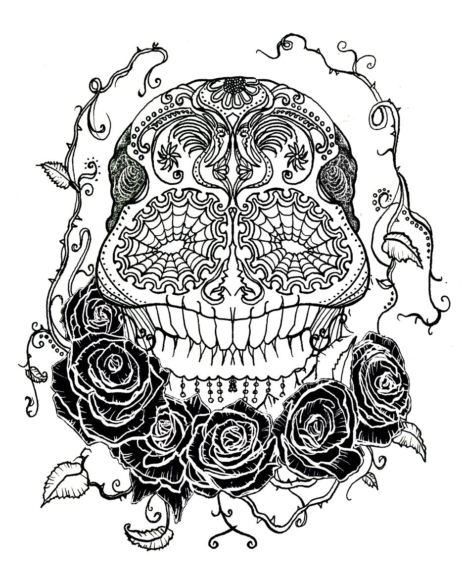 Free skull tattoo designs to print - Sugar Skull By Duncandraws Designs Interfaces Tattoo Design 2011 2015