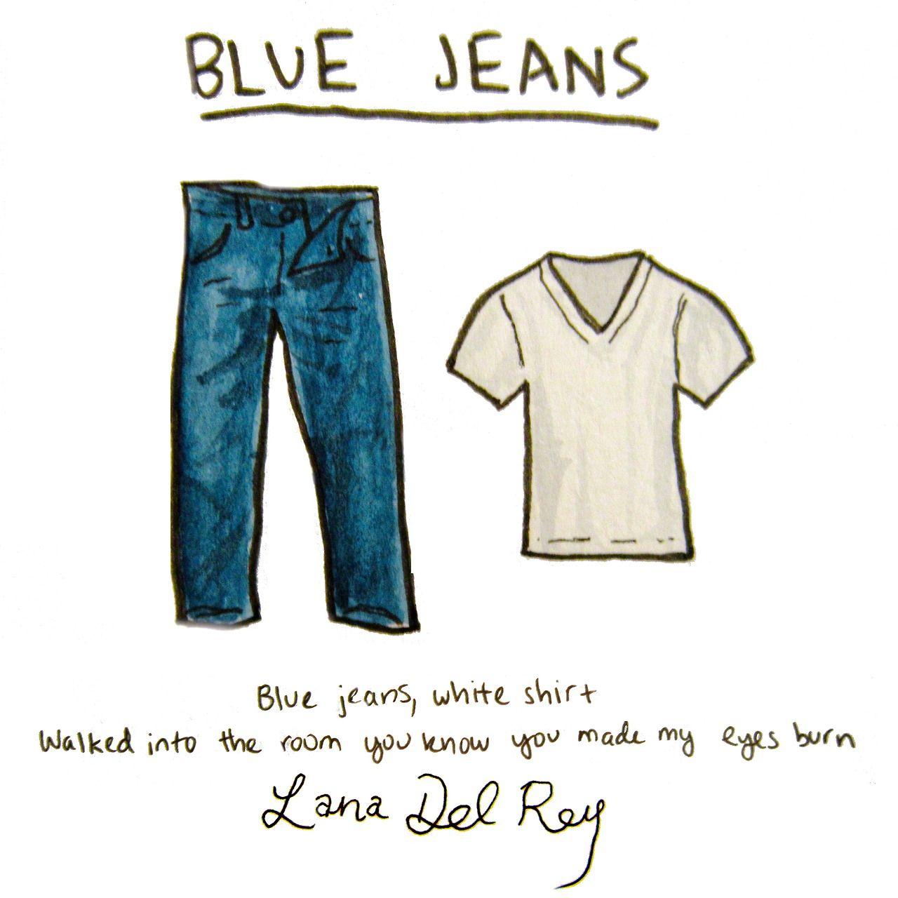 Lyrics Blue Jeans White Shirt Walked Into The Room