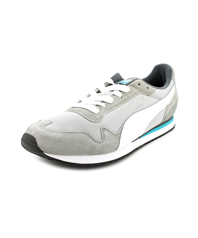 PUMA Puma Cabana Mesh Sport Men Round Toe Synthetic Gray Sneakers puma