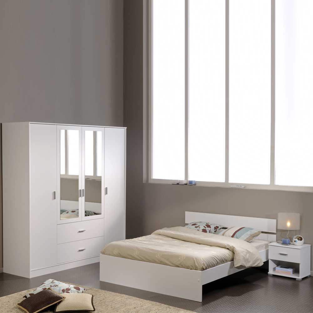 Schlafzimmermöbel Set in Weiß (3teilig) Jetzt bestellen