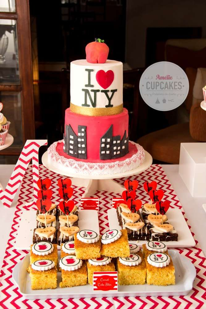 Themed Desserts At A New York Birthday Party See More Ideas CatchMyParty