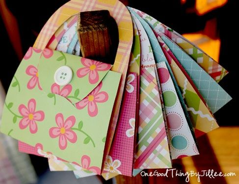 DIY Notecard Purses. I made one (without the template). They are so easy and really cute!!