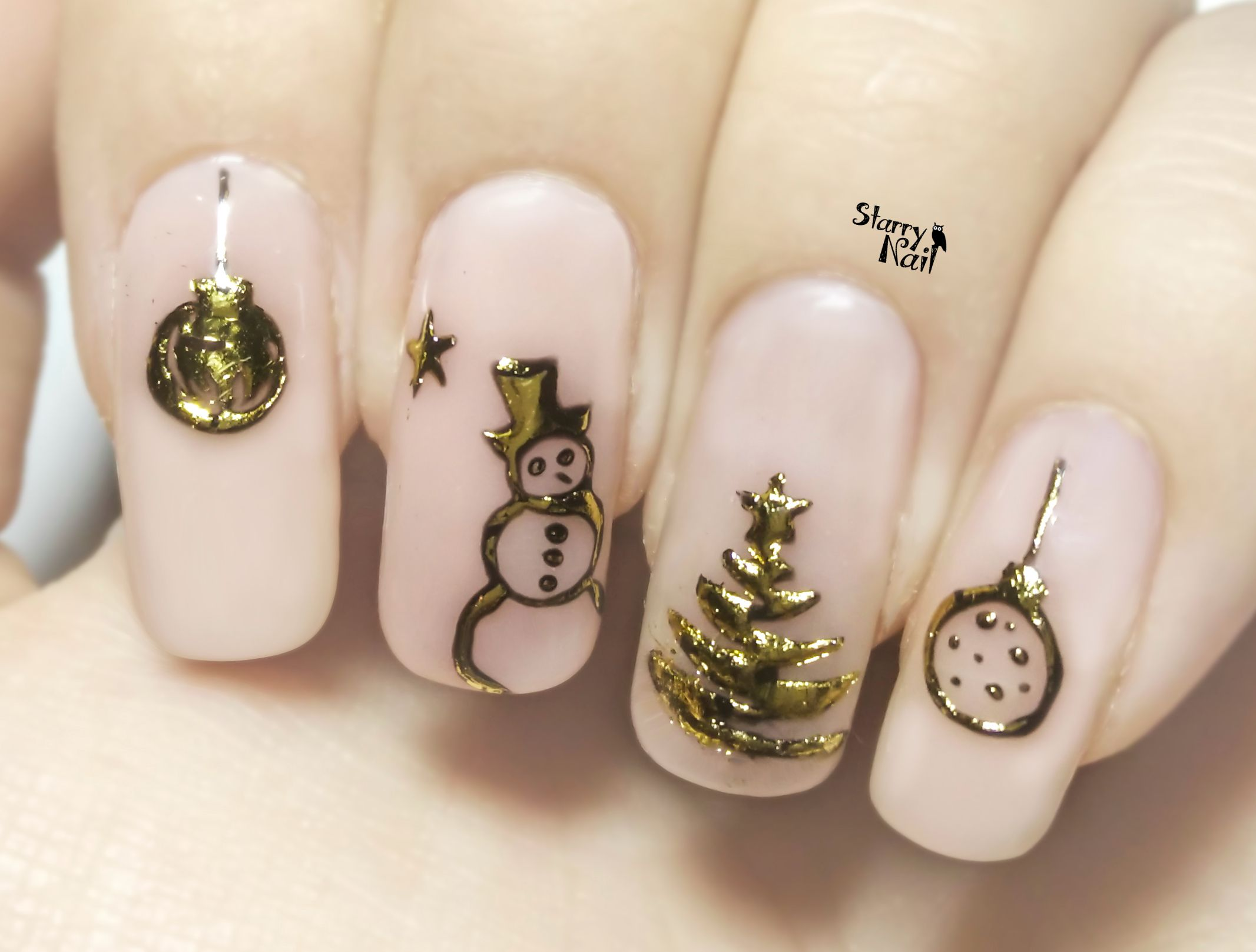 Easy 3D Christmas Ornaments ⎮ Transfer Gel & Foil ⎮ Nail Art ...