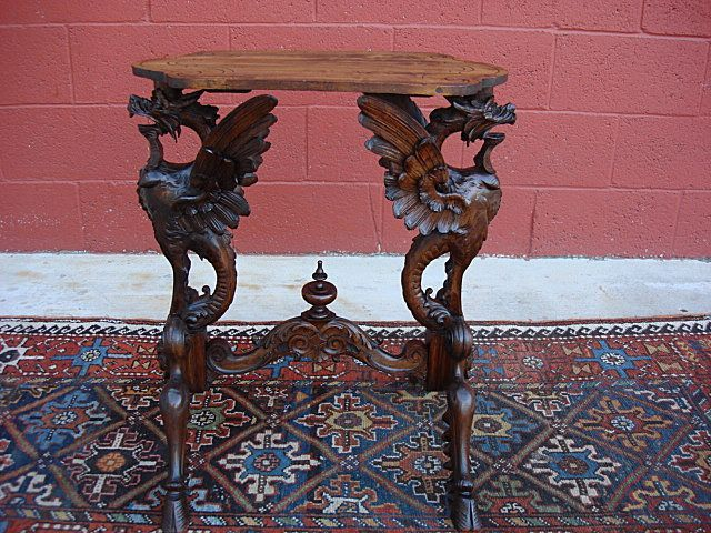 Beau The Best Carved Antique Griffin Side Table Antique Lamp Stand Antique  Furniture
