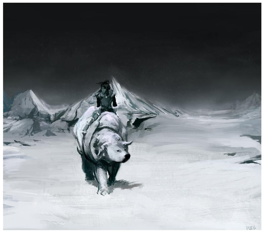 Korra and Naga by Plegathon.deviantart.com on @deviantART