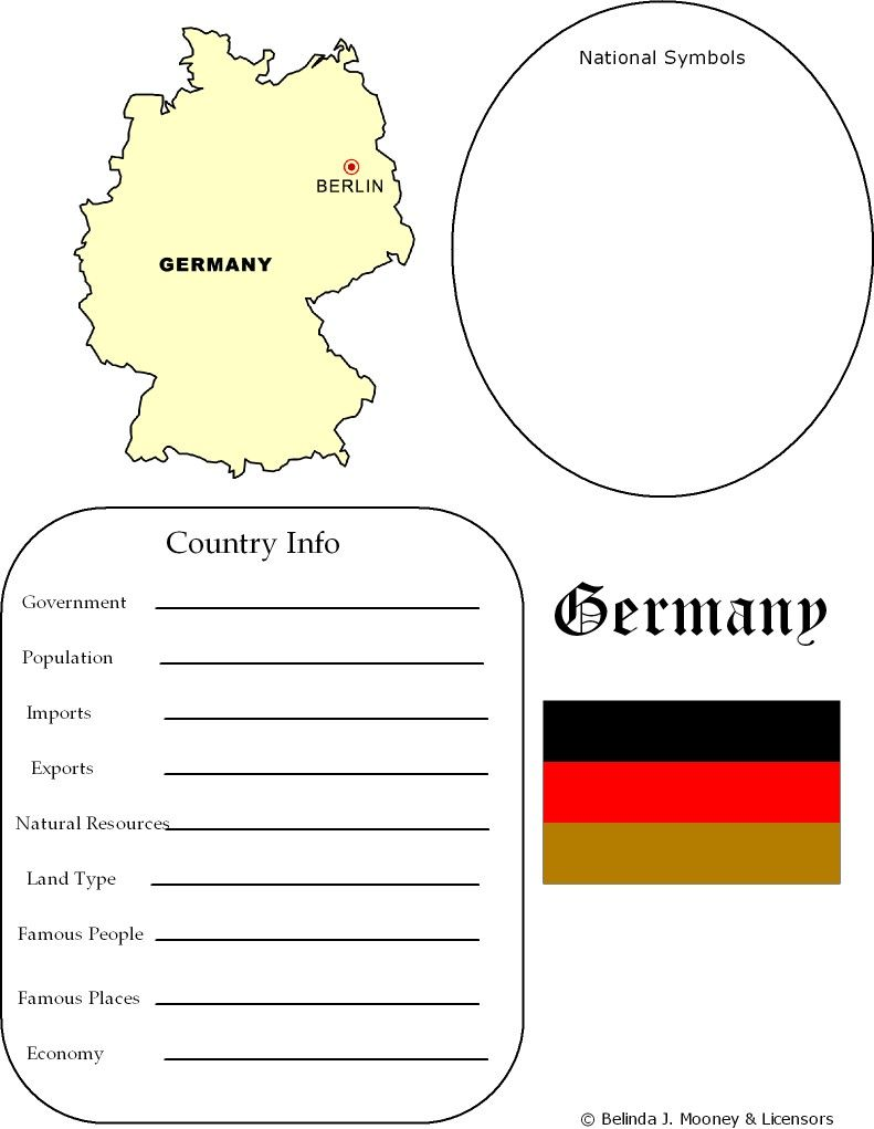 Germany Map Worksheet Geography Germany For Kids