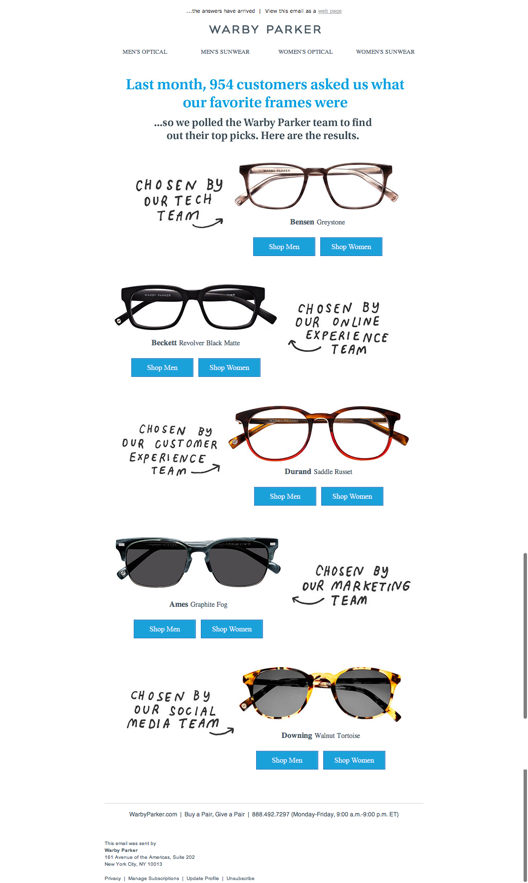 30d39e08e31 Warby Parker Email