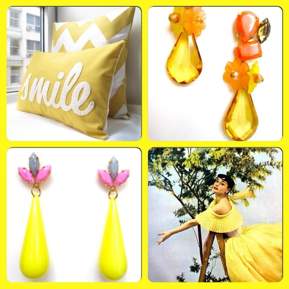 yellow, earrings, fashion jewelry, chandelier, made in Italy, bijoux, italian fashion, orecchini, Matildesign