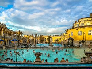The grand bathouses of Budapest make the HUngarian capital an ideal destination for fall travel. www.casualtravelist.com