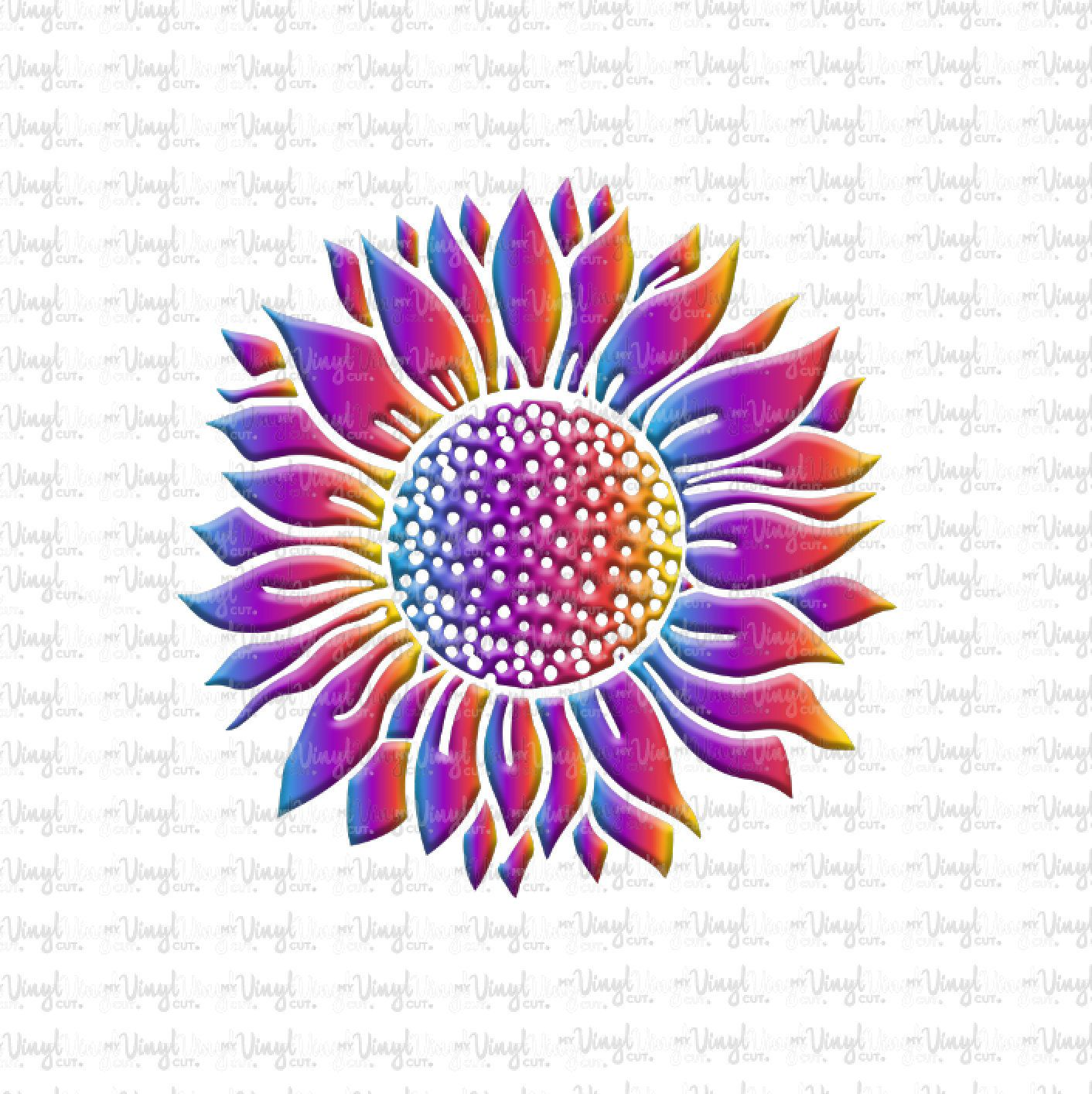 Waterslide Decal Sunflower Face Embossed Illusion Image Printed Waterslide Paper Already Sealed By Myvinylcut On In 2020 Waterslide Paper Print Decals Glitter Stickers