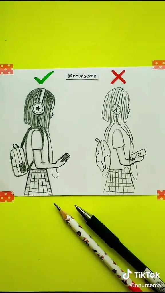 How To Draw A Teenager Girl By Nursema In 2020 Disney Art Drawings Art Drawings Sketches Creative Art Drawings Sketches Simple