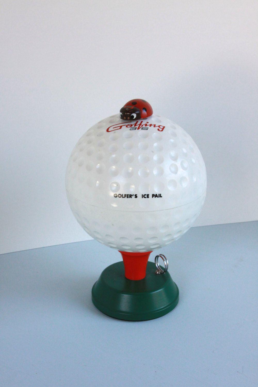 golfer s ice pail barware rc golfing 36 golf ball ice bucket