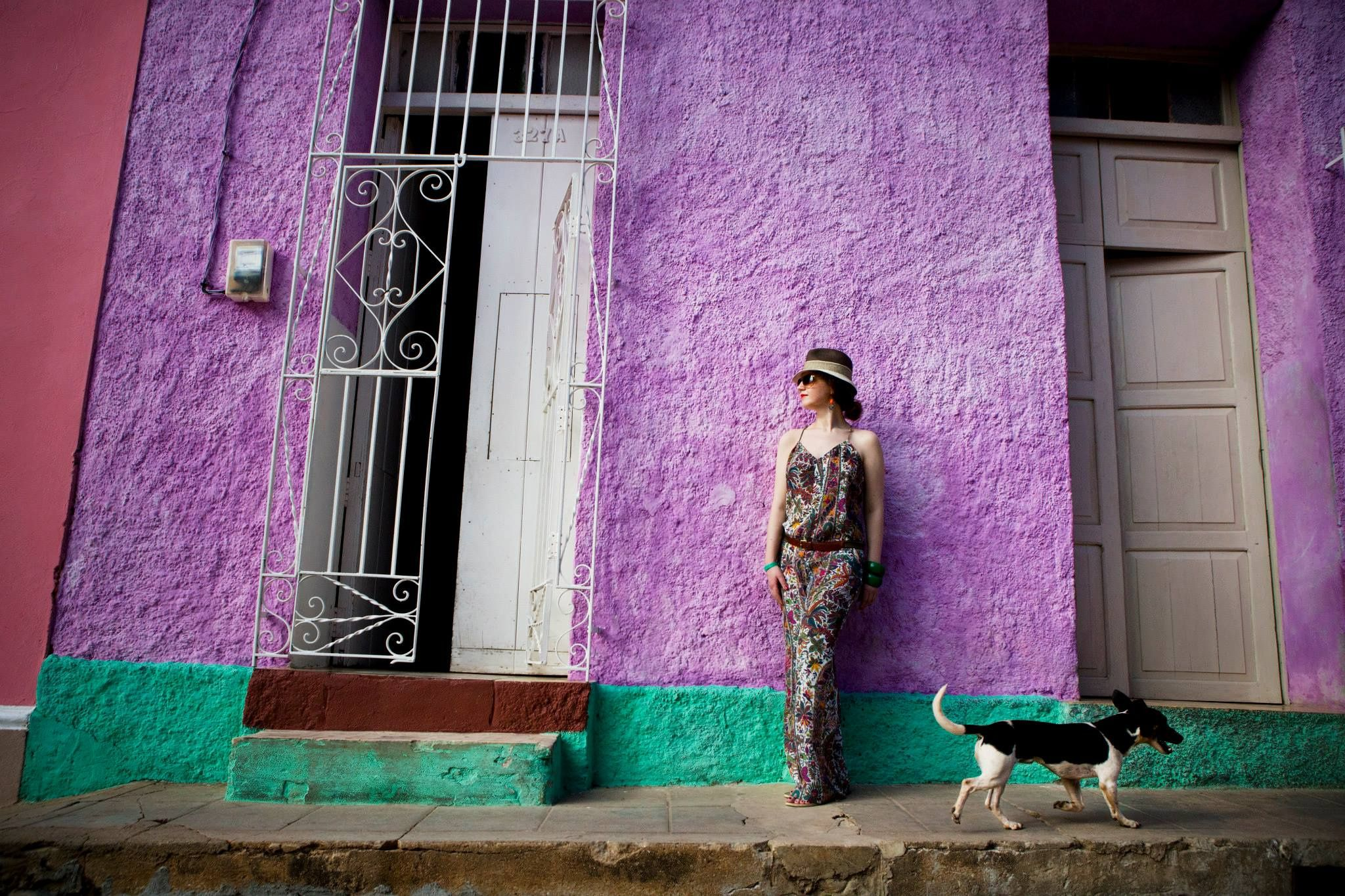 girl with dog - Havana. Trinidad.  2014 - All About Cuba http://www.Cuba-Junky.com