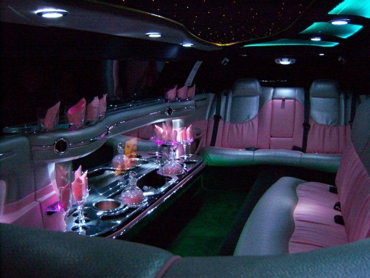Inside Pink Limousine Chrysler 300, Limo, Vehicles