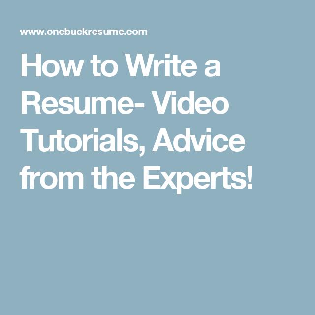 resume tutorials