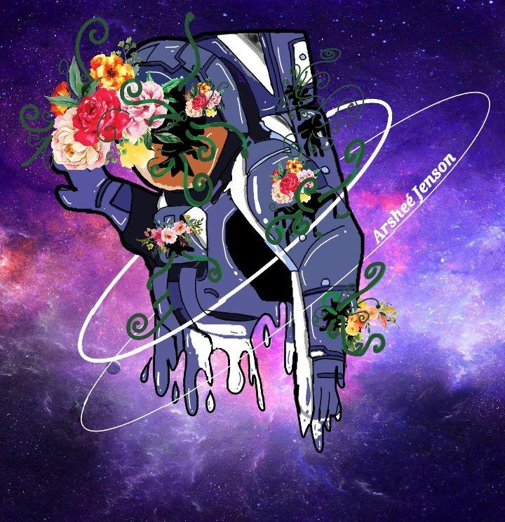 Lonely Astronaut aesthetic digital art astronaut on a