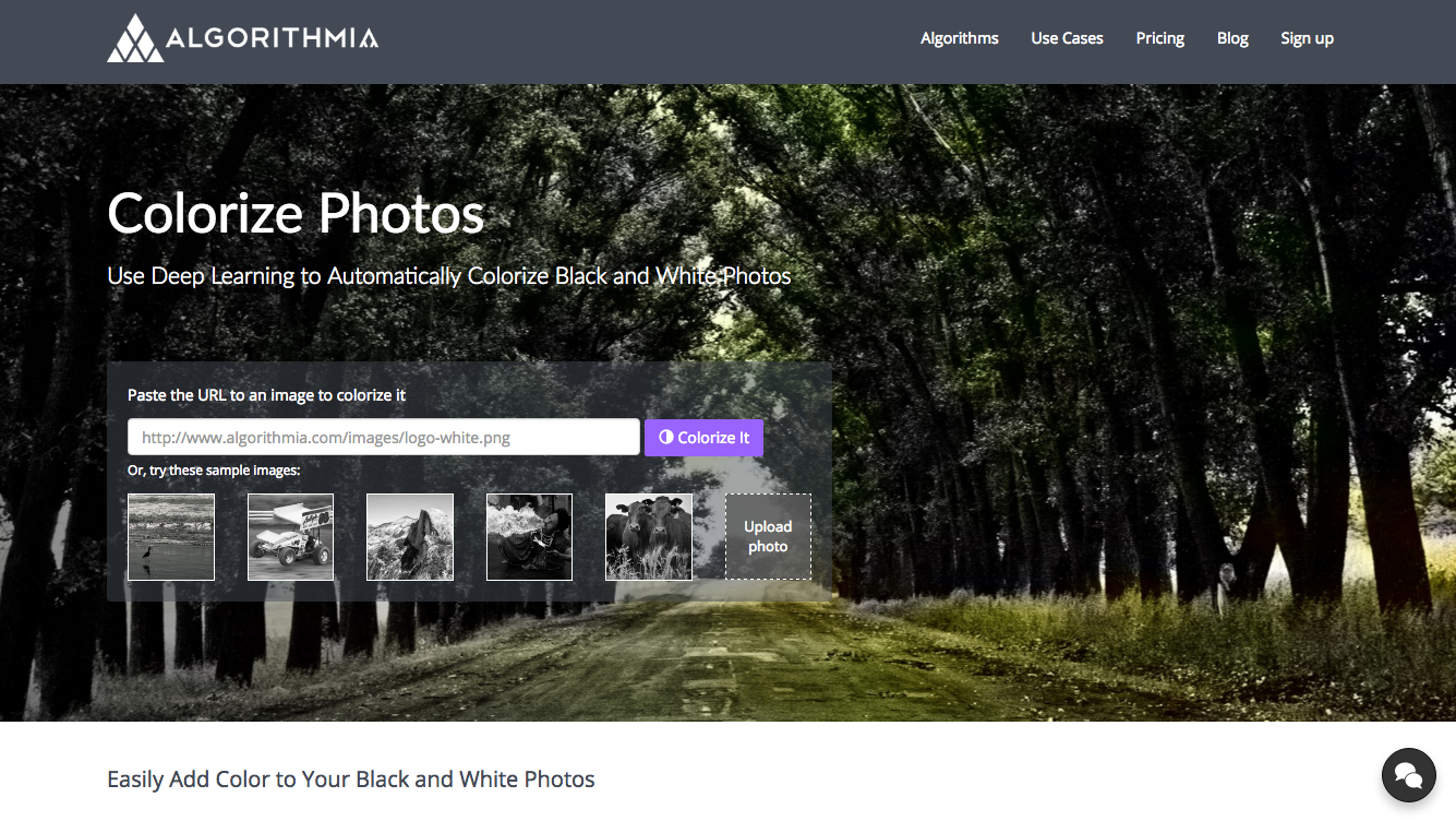 Colorize photos use deep learning to automatically colorize black and white photos