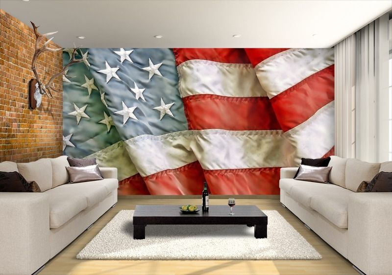 Vintage American Flag Mural Google Search