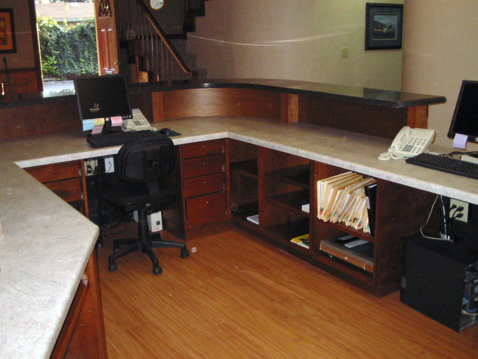 Countertop Desk : countertop desks ... laminate countertop work area elementary school ...
