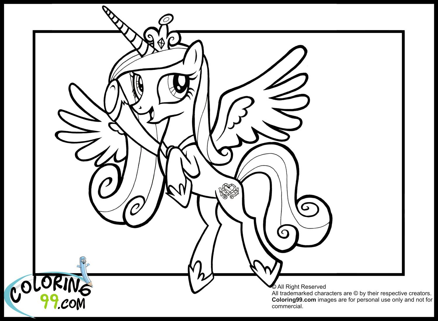 Coloring pages of princess cadence - Princess Cadence Coloring Pages