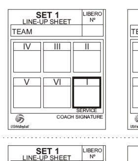 volleyball lineup sheet
