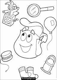 Dora Backpack Template Google Search Coloring Books Dora Coloring Dora The Explorer