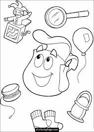 Dora Backpack Template Google Search Cartoon Coloring Pages