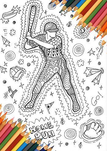 Baseball man coloring, coloring page baseball, sport coloring page ...