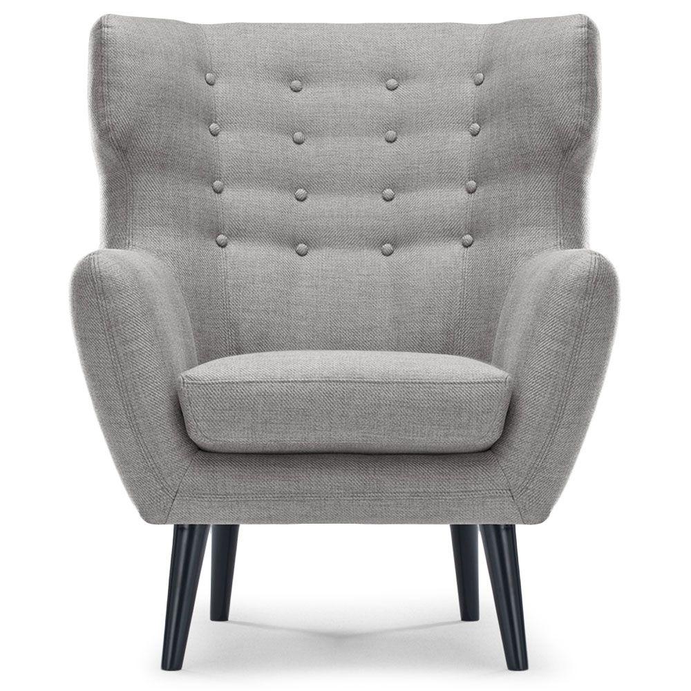 fauteuil berg re tissu gris fauteuils tissu gris et gris. Black Bedroom Furniture Sets. Home Design Ideas