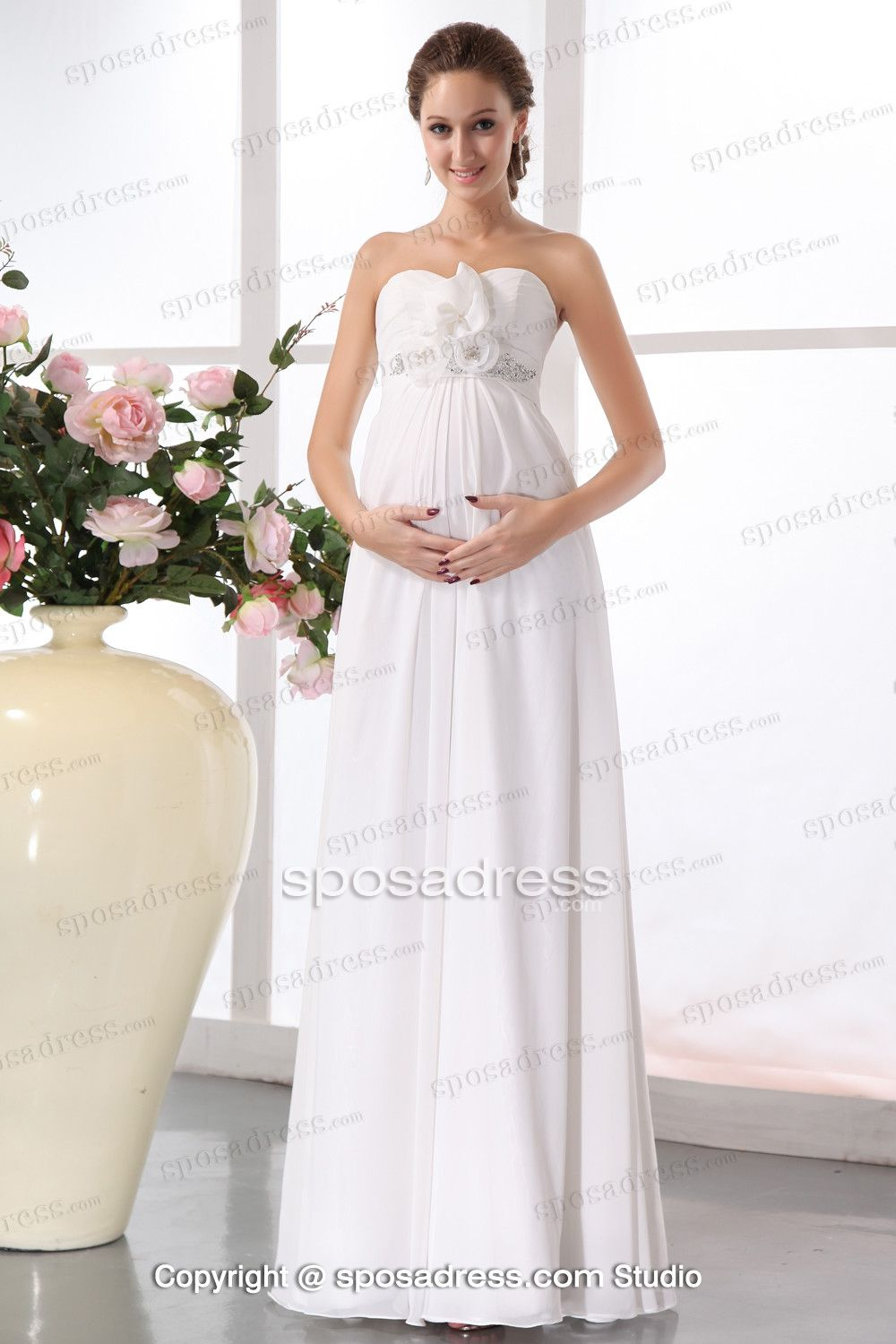 Enticing white ruched sweetheart a line chiffon maternity wedding enticing white ruched sweetheart a line chiffon maternity wedding dress ombrellifo Image collections