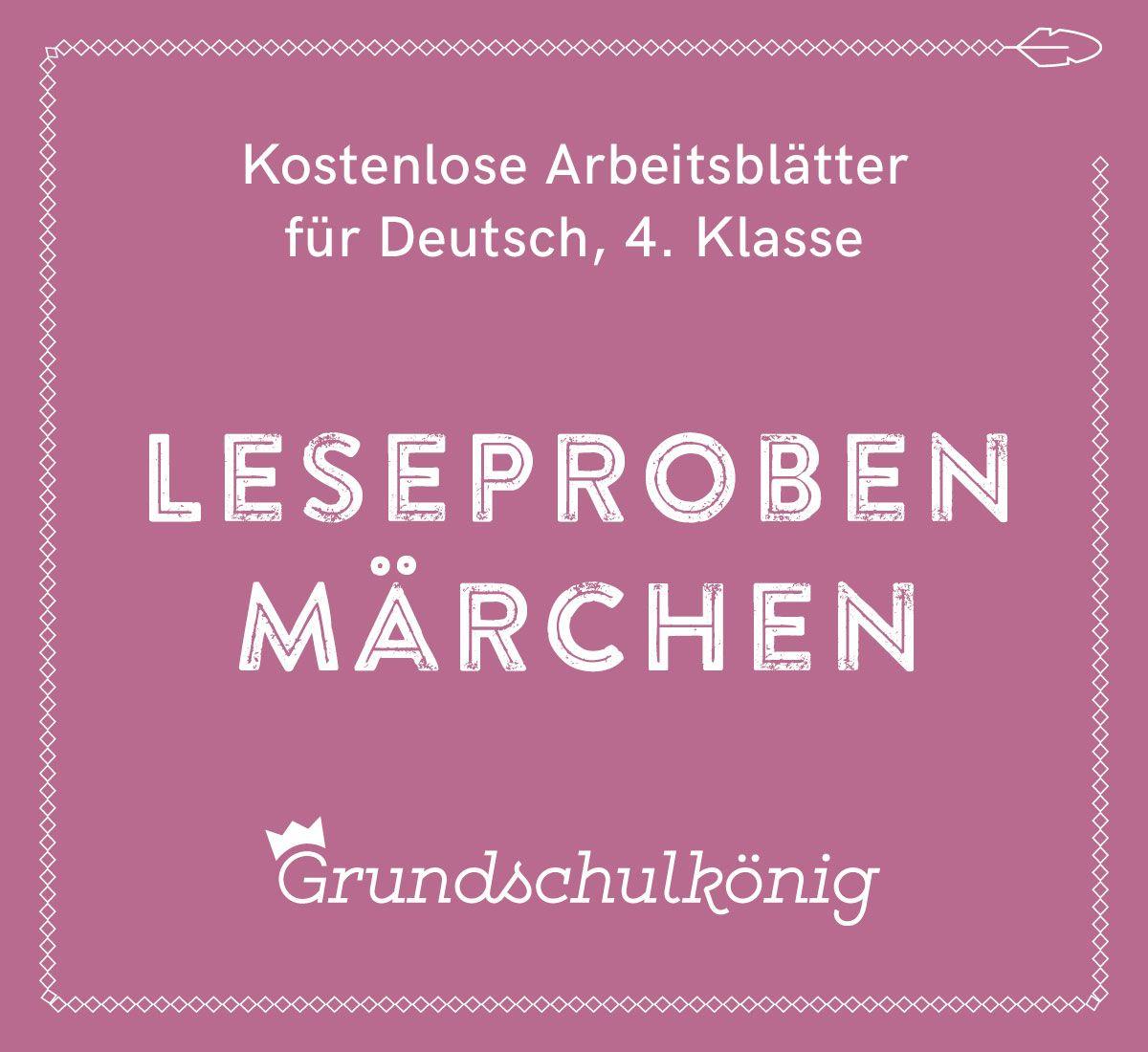 Kostenlose Arbeitsblätter und Übungen mit Leseproben zu Märchen für ...