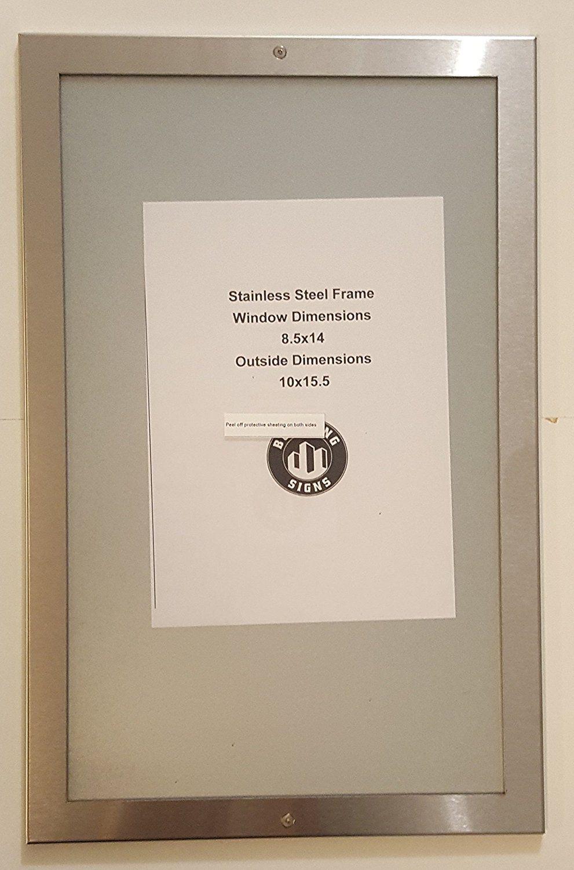 Elevator certificate frame 8.5\