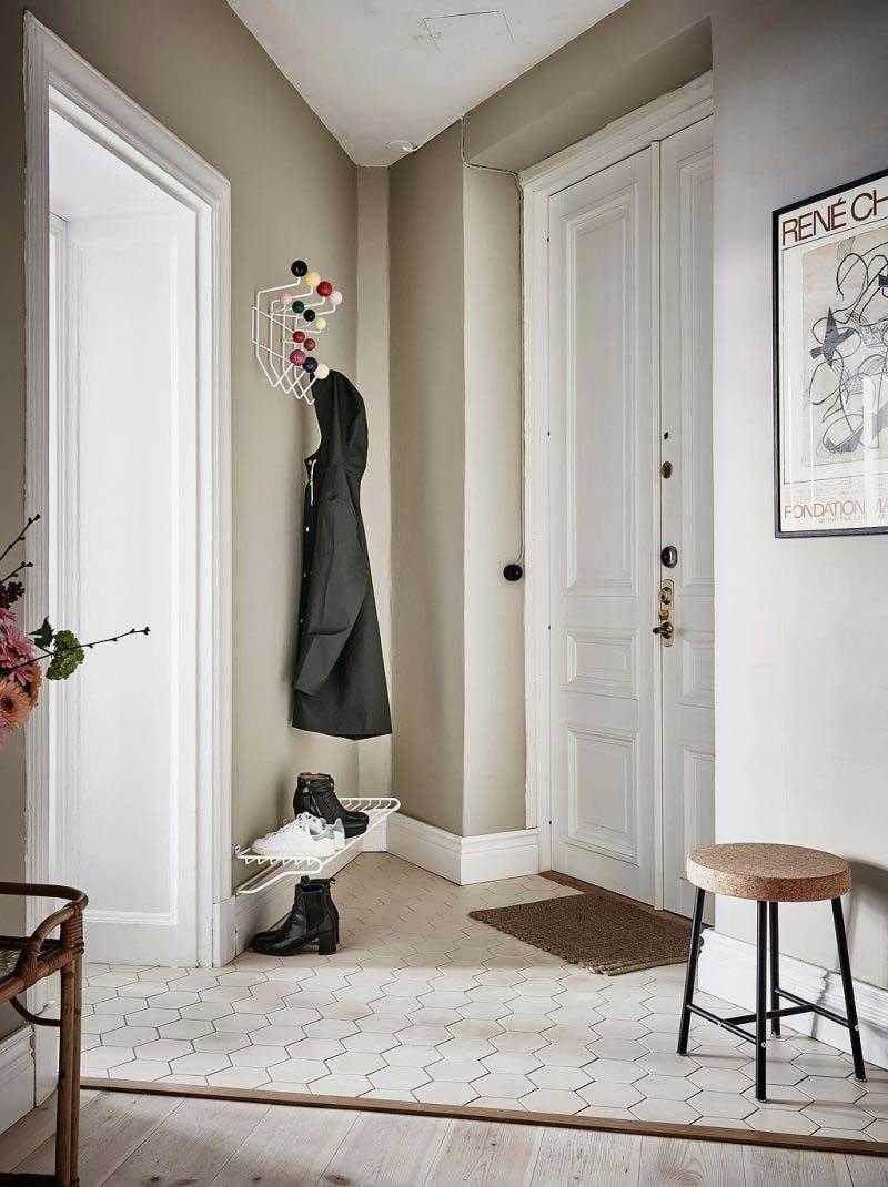 Taupe Muur Hal Scandinavian Apartment Bedroom Green Entryway Decor