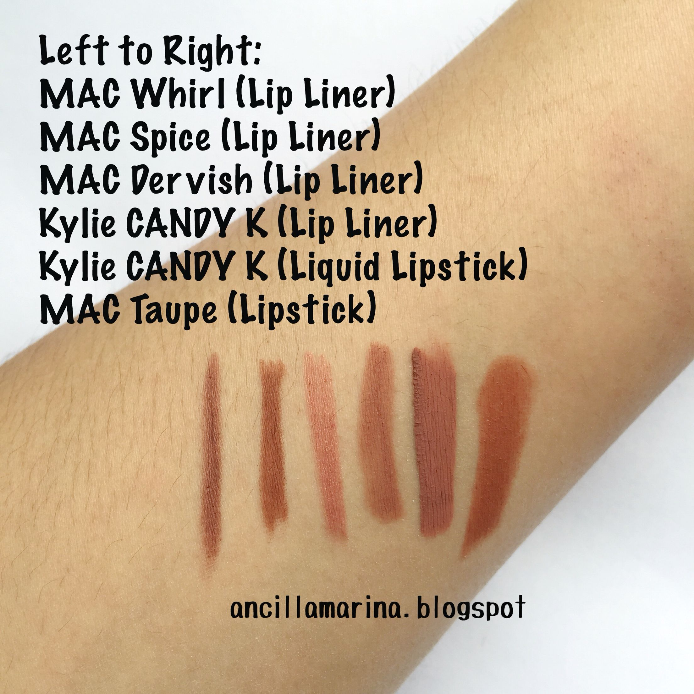 Lip kit by Kylie CANDY K comparison swatches ) Candy K vs