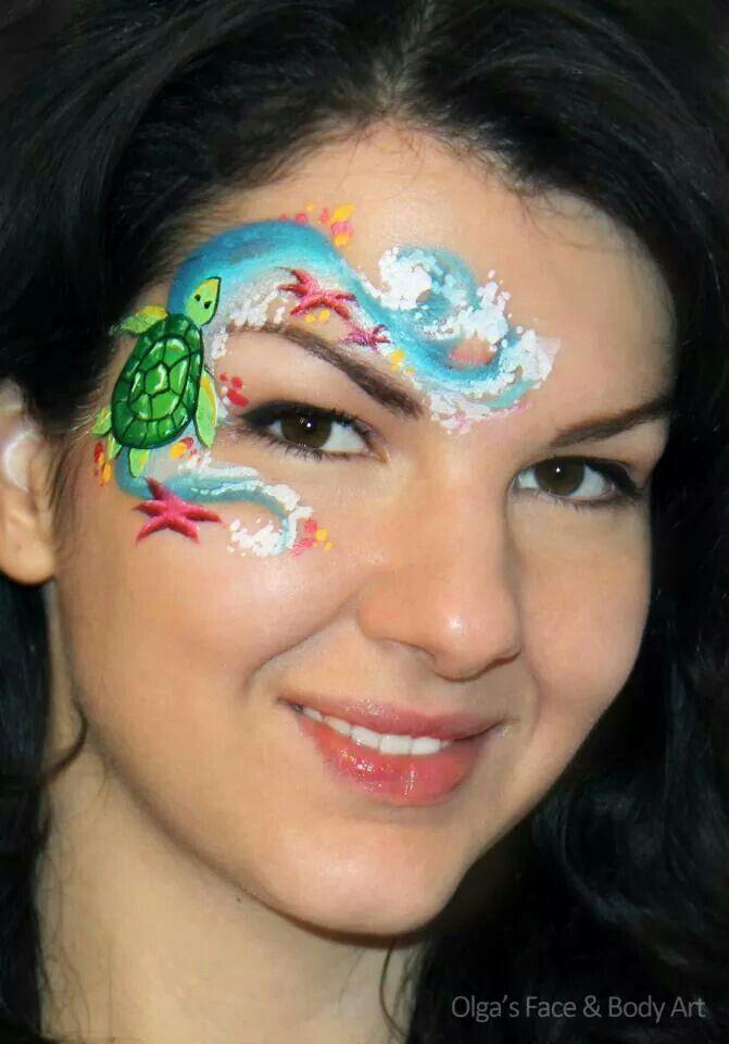 Turtle In The Ocean By Olga Kids Face